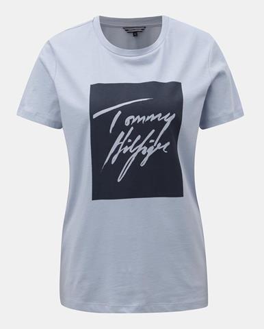 ZĽAVA až 29% na Svetloružové dámske polo tričko značky TOMMY HILFIGER 2f5b1251e1